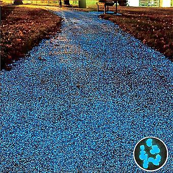 100pcs/pack Glow Pebbles Stone Fish Tank Garden Decoration Glowing In The Dark