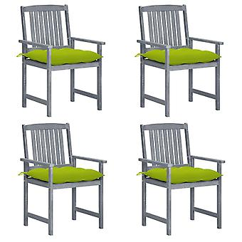 כיסאות מנהל vidaXL עם כריות 4 יח'.