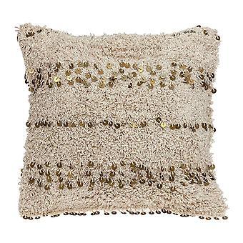 Boho Vævet Shaggy Paillet Kast Pillow