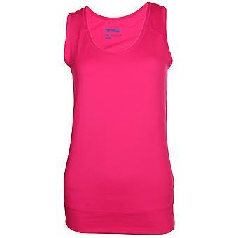 ريبوك الرياضة النسائية بلايدري الأساسية تدريب اللياقة البدنية خزان سترة الوردي