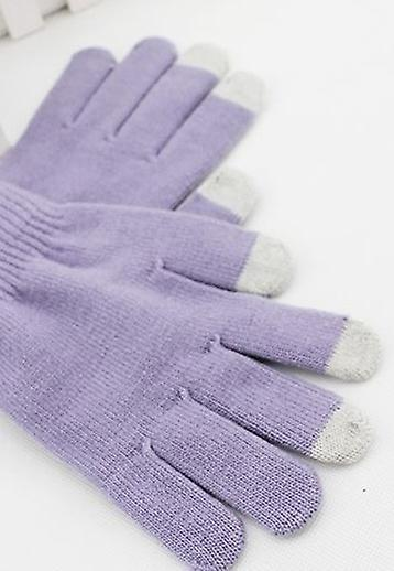ONX3 BLU Dash L3 (Light Purple) Universal Unisex One Size Winter Touchscreen Gloves For All Smartphones / Tablets