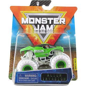 monster jam 1:64 diecast monster lastbil alien invasion