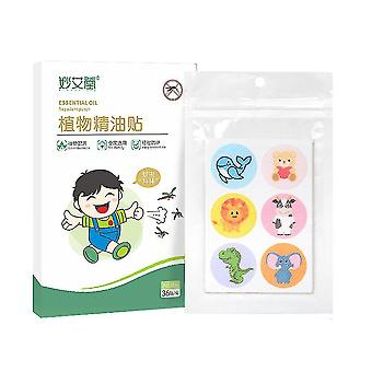 36pcs Mosquito Patch Plant Extract Insect Repellent Patches With Cartoon Pattern For Adult Kids