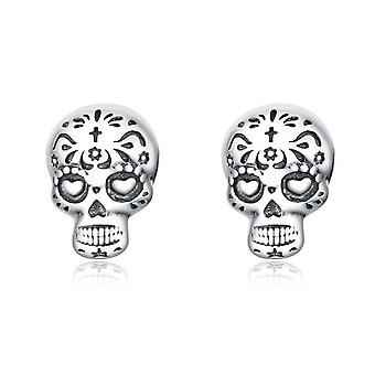 Silver plating Gothic Cool Skull Stud Earrings for Women Fashion Jewelry
