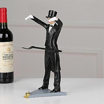 יצירתי בית דקור קסום מחזיק יין קוסם פסלון יין מדף שולחן קישוט בעבודת יד