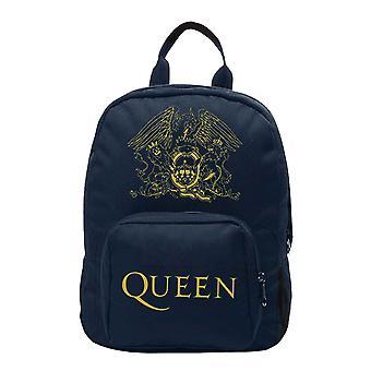 Queen Ryggsekk Bag Royal Crest Band Logo ny Offisiell Blå Liten