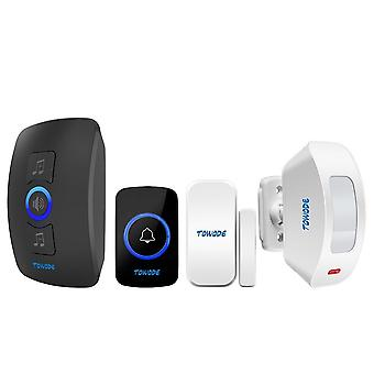 Wireless Alarm Doorbell Home Security Pir Motion Detector Welcome System