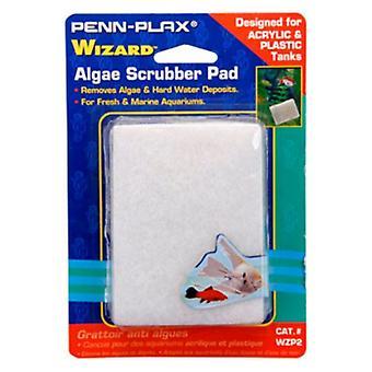 "Penn Plax Wizard Algae Scrubber Pad for Acrylic or Glass Aquariums - 3""L x 4""W - 1 count"