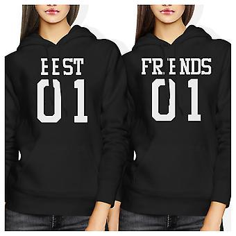 Sudaderas con capucha mejor 01 amigo 01 BFF camisas lindas mejores amigos