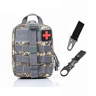 Sistema Molle táctico de primeros auxilios bolsa médica para emergencia (A-acu Bag And 2 Hook)