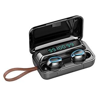 F9-5 Tws Bluetooth Kopfhörer Wireless Magnetische Kopfhörer 9d Hifi Noise Cancelling Wasserdichte Headsets mit Lanyard Mikrofon Ladebox