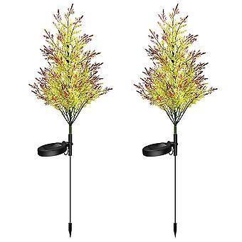 Swotgdoby Solar Cypress Ground Plug Light, Christmas Colorful Cypress Tree Decoration