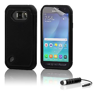 Shock proof case + stylus for Samsung Galaxy S6 Active (SM-G890) - Black