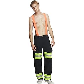 Láz gyűjtemény tűzoltó jelmez a nadrág és harisnyatartó gr. M