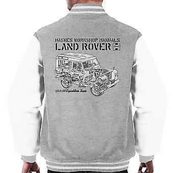 Haynes Owners Workshop Manual Land Rover Overland zwarte mannen Varsity Jacket