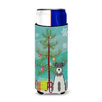 Merry Christmas Tree Miniature Schanuzer Salt and Pepper Michelob Ultra Hugger f