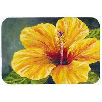 Hibiscus jaune par Malenda truc planche à découper verre grand