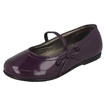 Девочек пятно на плоские туфли с бантом отделка