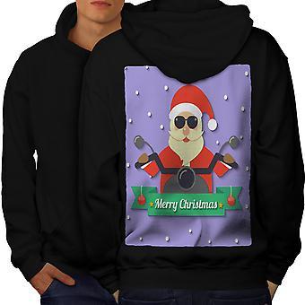 Santa Biker mannen BlackHoodie rug | Wellcoda