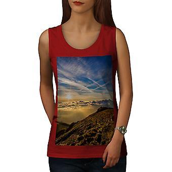 Nuages de ciel sommet Nature femmes RedTank Top | Wellcoda