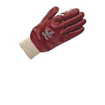 Unisex Adults Gloves PVC Fully Coated Knit Wrist