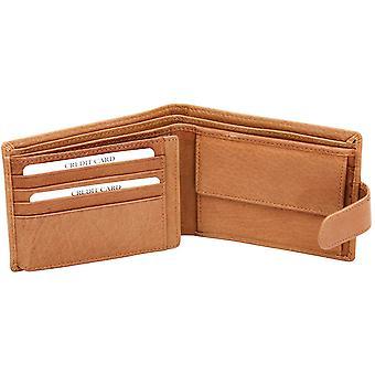 Felda Genuine Cow Hunter Leather Luxury Mens Bi Fold Wallet 8 Credit Card Slot, Coin Pocket & Presentation Gift Box