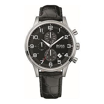Hugo Boss Herren Chronograph Uhr Lederband HB 1512448