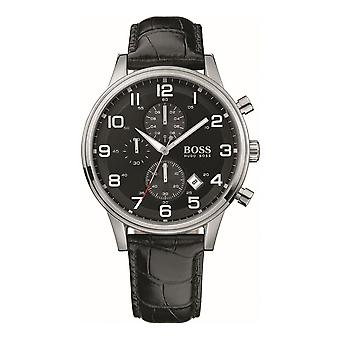 Hugo Boss Mens Chronograph Watch Leather Strap HB 1512448