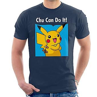 Chu Can Do It Pikachu Pokemon Men's T-Shirt