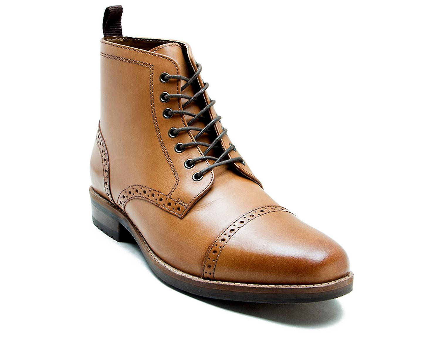 Red Tape Benham Tan Leather Formal Boots