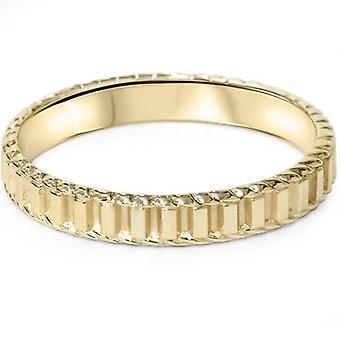 14K geel gouden Hand gevlochten trouwring