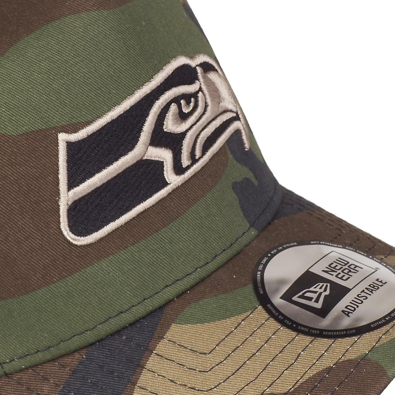 Seattle Seahawks wood camo New Era Adjustable Trucker Cap