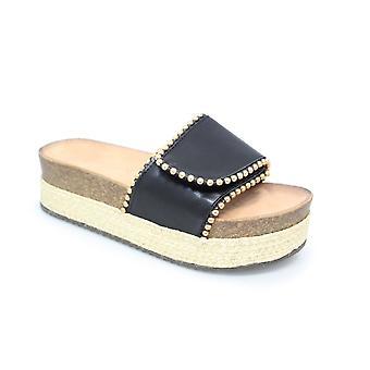 Lollyfox Carrie Wedge Slip On Sandal CLEARANCE