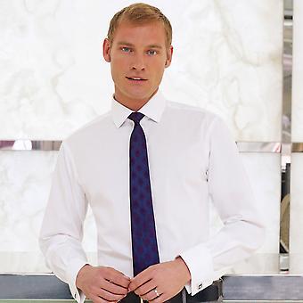 Brook Taverner Mens Chelford Cotton Slim Fit Shirt Double Cuff Shirt