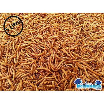 5 liter Gedroogde Meelwormen voor pluimvee