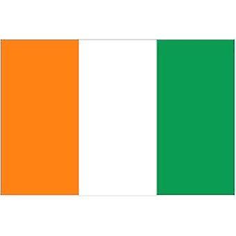 Cote D'Ivoire Norsunluurannikon lippu 5 jalkaa x 3 ft jossa ripustamista varten