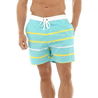 Mens Knee Length Striped Swimshorts Trunks Swimwear Various Colours & Sizes