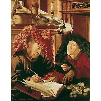 Two Tax Gatherers, c.1540 (oil on panel) by.. - Greeting Card (Pack of 2) - Art247