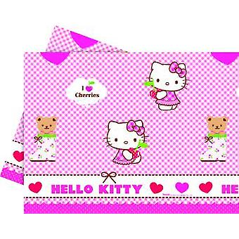 Hello Kitty hearts kitten party tablecloth 120 x 180 cm 1piece children birthday theme party