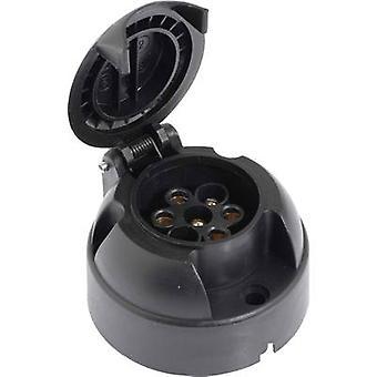 DINO 130086 Trailer socket [7-pin socket - 7-pin plug] ABS plastic