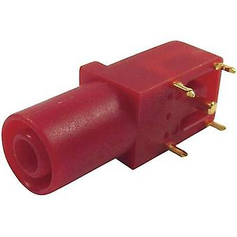 Cliff FCR7350R Safety jack socket Socket, right angle Pin diameter: 4 mm Red 1 pc(s)