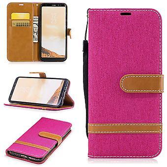 Samsung Galaxy S8 farkut kansi matkapuhelin suojus tapauksessa vaaleanpunainen laukku