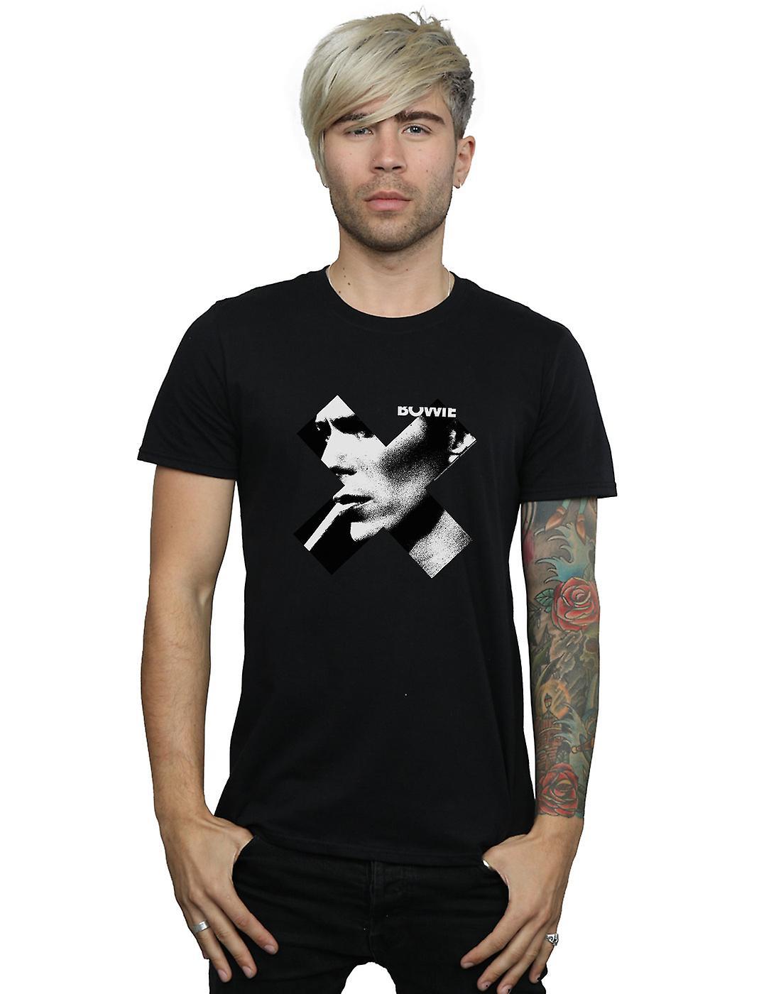 David Bowie Men S Cross Smoke T Shirt Fruugo Se