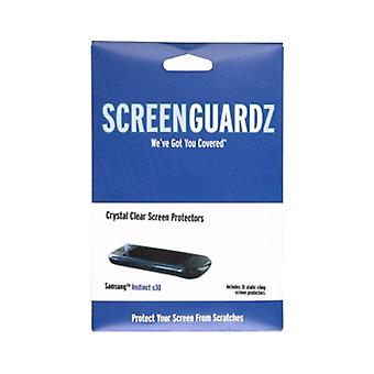 5 Pack -ScreenGuardz Samsung Instinct S30 SPH-M810 Screen Protectors, (15 Pack)