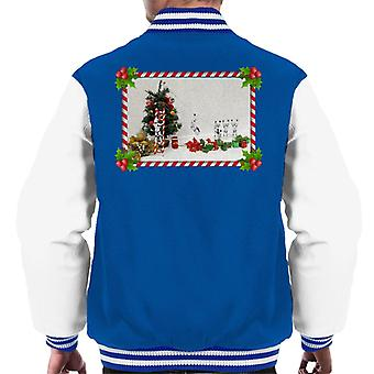 Original Stormtrooper Christmas Tree Candy Cane Slide Men's Varsity Jacket