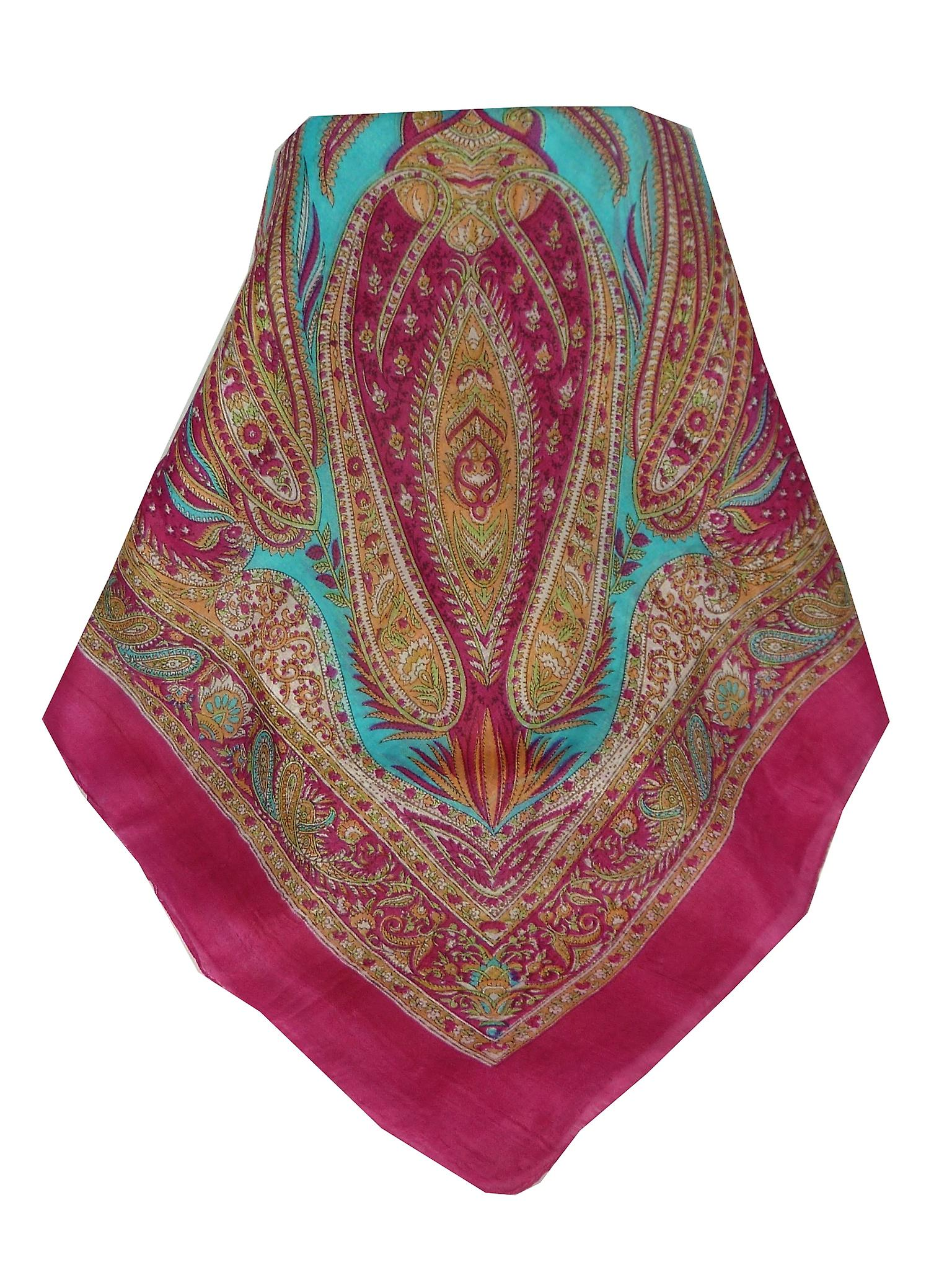 Mulberry Silk Classic Square Scarf Harisa Pink by Pashmina & Silk