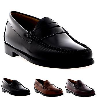Womens G.H Bass Weejuns Penny Leather Smart Loafers Office Work Shoes