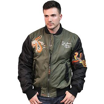 Top Gun Flying Legend Bomber Jacket Olive