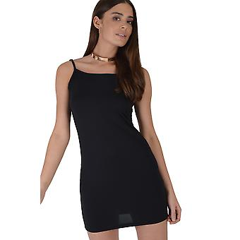 Lovemystyle Black Short Bodycon Dress With Adjustable Straps