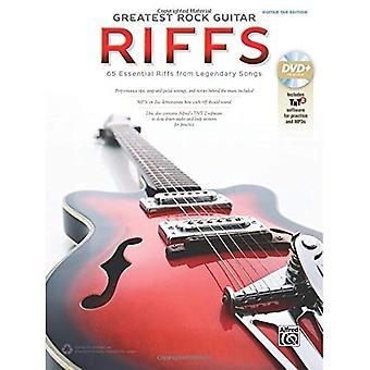 The Greatest Rock Guitar Riffs: Guitar Tab, Book & DVD-ROM